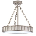 Middlebury Semi Flush Ceiling Light - Historic Nickel / Frosted