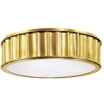 Middlebury Ceiling Light Fixture - Aged Brass / Frosted