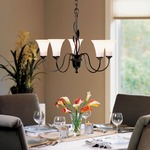 Forged Leaves 5 Arm Chandelier by Hubbardton Forge