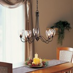Trellis 5 Arm Chandelier by Hubbardton Forge