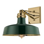 Hudson Falls Wall Light - Green /