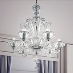 Dolfin Chandelier - Painted / Crystal