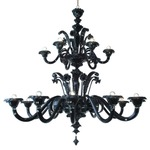 Dolfin Chandelier - Painted / Black
