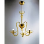 Medusa 3-light Suspension - Gold / Amber