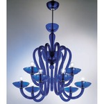 Medusa 9-light Suspension - Chrome / Blue