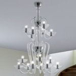 Medusa 15-light Suspension - Chrome / Crystal