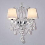 Miami Wall Sconce - Chrome / Crystal