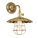 Heirloom MS3-WG Wall Light - Aged Brass /