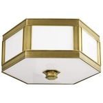 Nassau Ceiling Light Fixture - Aged Brass / White