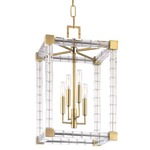 Alpine Chandelier - Aged Brass /