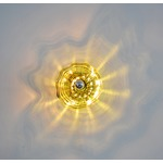 Celestial Wall Sconce - Brushed Nickel / Chartreuse Glass