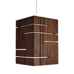 Claudo Accent Pendant - Brushed Aluminum / Oiled Walnut