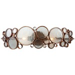 Fascination Bathroom Vanity Light - Hammered Ore /