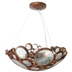 Fascination Bowl Pendant - Hammered Ore /