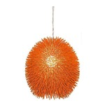Urchin Pendant - Electric Pumpkin /