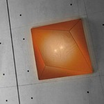 Ukiyo Square Wall or Ceiling Mount - White / Orange