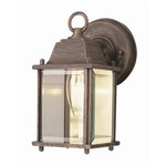Purisima Mission Wall Light - Rust / Clear