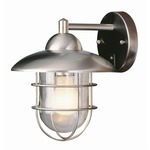 Coastal Coach Wall Lantern - Stainless Steel / Clear