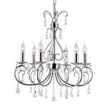 Chic Nouveau Chandelier - Polished Chrome / Crystal