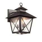 Chimney Wall Lantern - Black / Clear