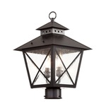 Chimney Post Lantern - Black / Clear