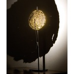 Gold Moon 2800K Table Lamp - Nickel Plated / Gold Leaf