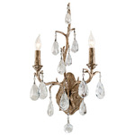 Amadeus Wall Sconce - Vienna Bronze / Crystal