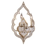 Bijoux Wall Sconce - Silver Leaf / Crystal