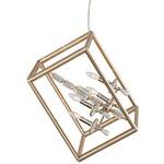 Houdini Crystal Pendant - Gold Leaf / Clear