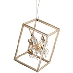 Houdini 4-light Pendant - Gold Leaf / Crystal