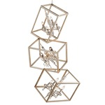 Houdini Pendant - Gold Leaf / Crystal