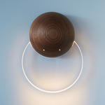 Anchor Wall Sconce - Walnut / Frosted