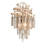 Chimera Wall Sconce - Silver Leaf / Clear