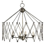 Accordion Chandelier - Pyrite Bronze /
