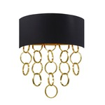 Novello Wall Sconce - Gold / Black