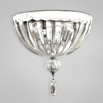 Darius Wall Sconce - Chrome / Clear