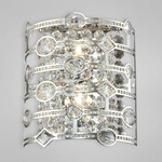 Mica Wall Sconce - Chrome / Crystal