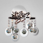 Nimah Wall Sconce - Chrome / Crystal
