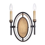 Infinity Wall Sconce - Oil Rubbed Bronze / Gold