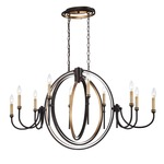 Infinity Chandelier - Oil Rubbed Bronze / Gold