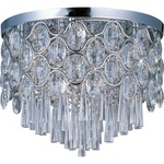 Jewel Ceiling Flush Mount - Polished Chrome / Crystal