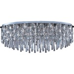 Jewel Oval Flush Mount - Polished Chrome / Crystal