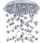 Dew Halogen Flush Mount Chandelier