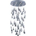 Rain LED Flush Mount Chandelier
