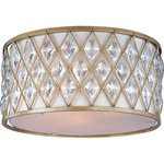 Diamond Ceiling Light Fixture - Golden Silver / Off White