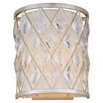 Diamond Wall Light - Golden Silver / Off White
