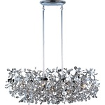Comet Linear Pendant - Polished Chrome / Crystal