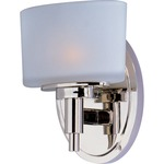 Lola Bathroom Vanity Light - Polished Nickel / White