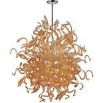 Mimi Chandelier - Polished Chrome / Cognac