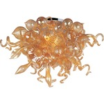 Mimi Semi Flush Mount - Polished Chrome / Cognac